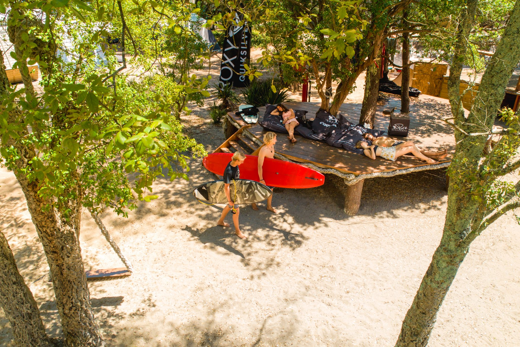Surfcamp Suche, Chillarea bei Pure Surfcamps