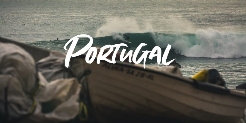 Portugal surf Arrifanna perfekte Pointbreaks