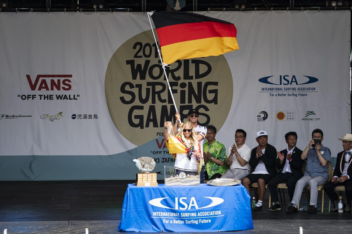 Surfen bei Olympia Zeremonie