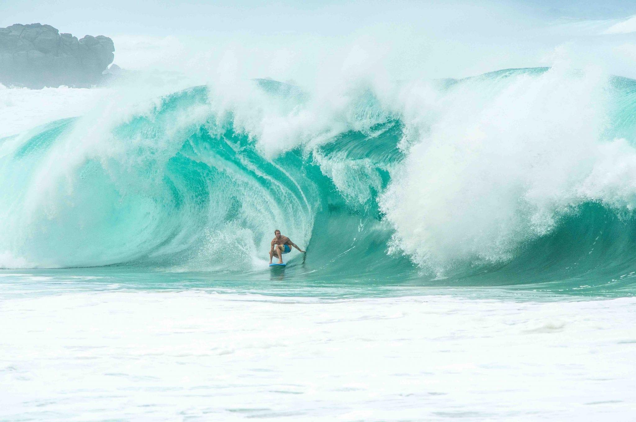 Surfübung vor dem Surfurlaub